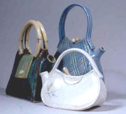 Purse Shaped Clay Teapot By Meghan Runkle From Asheville N C