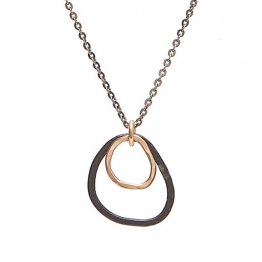 14kt Gold Fill and Blackened Sterling Shape Necklace