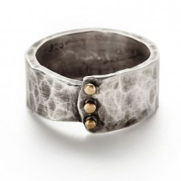 Industrial Rivet Mens Ring