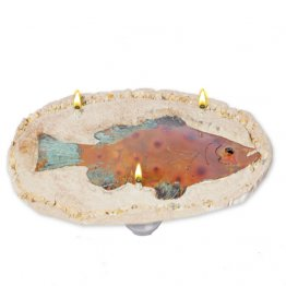 Grouper 3 Wick Oil Rock Candle