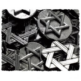 Star of David Assorted Pocket Charms Bulk 50 Piece ★