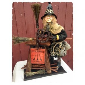 Broom Maker Witch by Brian Kidwell