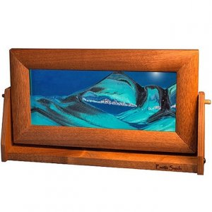 Alder Moving Sand Pictures Ocean Blue Med