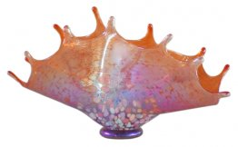 Blown Glass Splash Bowl Pick From 5 Colors